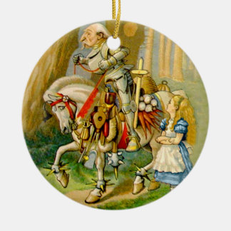 Alice and The White Knight in Wonderland Ceramic Ornament