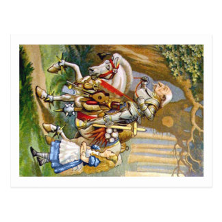 Alice and the White Knight in Wonderland Postcard