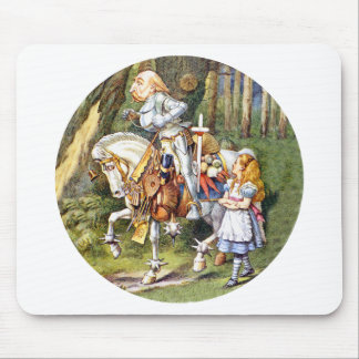 ALICE AND THE WHITE KNIGHT MOUSE PAD