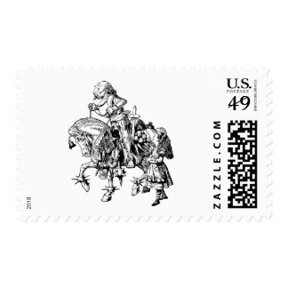 Alice and the White Knight Postage