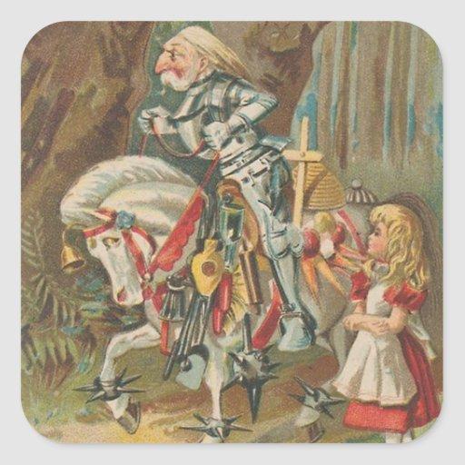 Alice and the White Knight Stickers