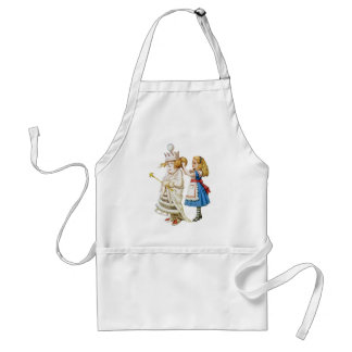 Alice and the White Queen in Wonderland Adult Apron
