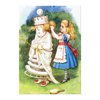 Alice and the White Queen in Wonderland Canvas Print