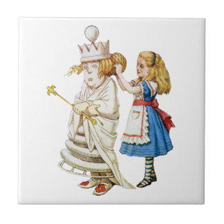 Alice and the White Queen in Wonderland Ceramic Tile