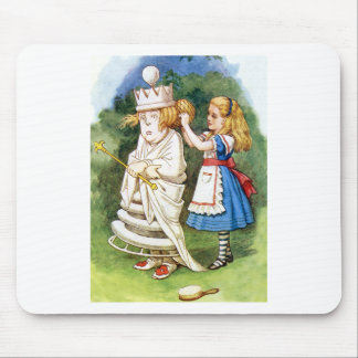 Alice and The White Queen in Wonderland Mouse Pad
