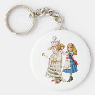 ALICE AND THE WHITE QUEEN KEYCHAIN