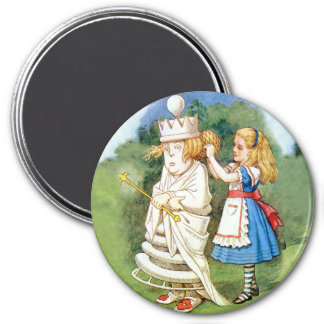 Alice and the White Queen Magnet