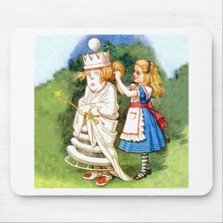 Alice and the White Queen Mouse Pad