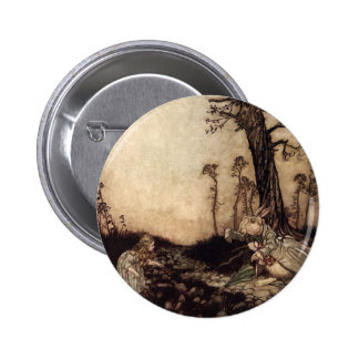 Alice and the White Rabbit Pinback Button