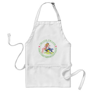 ALICE AND THE WHITE RABBIT - I'M LATE! ADULT APRON