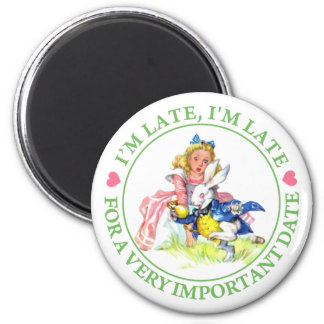 ALICE AND THE WHITE RABBIT - I'M LATE! MAGNETS