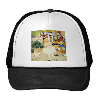 Alice and the White Rabbit in the Queen's Court Trucker Hat