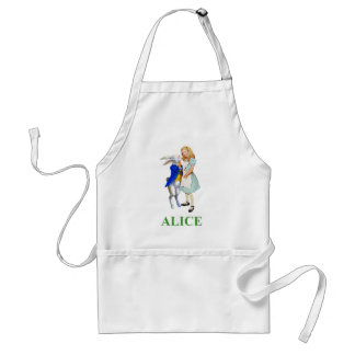 Alice and The White Rabbit in Wonderland Adult Apron