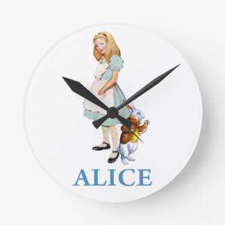Alice and the White Rabbit in Wonderland Clock