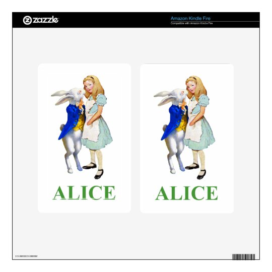 Alice and The White Rabbit in Wonderland Kindle Fire Skin