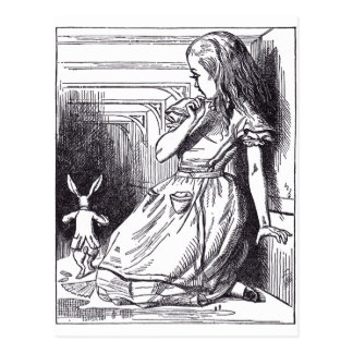 Alice and the White Rabbit Post Card