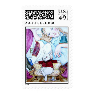 Alice and The White Rabbit Postage