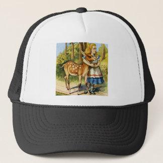 Alice and the Young Deer in Wonderland Trucker Hat