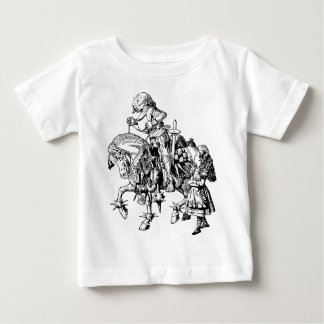 Alice and White Knight Inked Baby T-Shirt