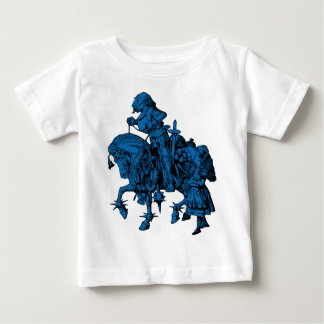 Alice and White Knight Inked Blue Fill Baby T-Shirt