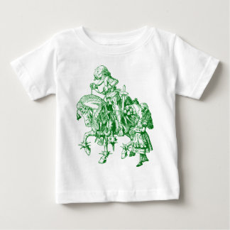 Alice and White Knight Inked Green Baby T-Shirt