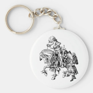 Alice and White Knight Inked Keychain