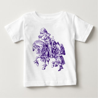 Alice and White Knight Inked Purple Baby T-Shirt