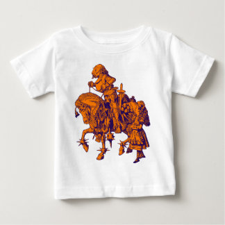 Alice and White Knight Inked Purple Orange Baby T-Shirt