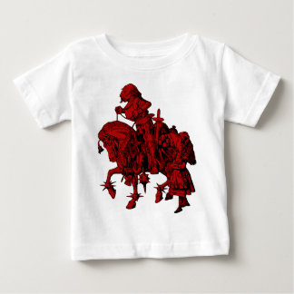 Alice and White Knight Inked Red Fill Baby T-Shirt