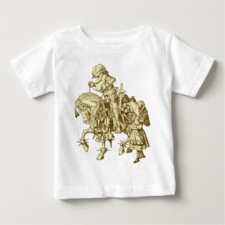 Alice and White Knight Inked Sepia Baby T-Shirt