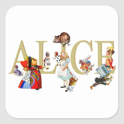 Alice and Wonderland and Friends Sticker