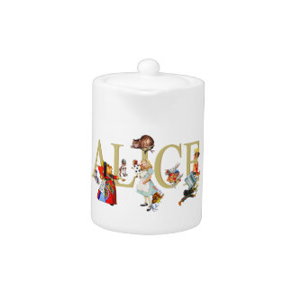 Alice and Wonderland and Friends Teapot