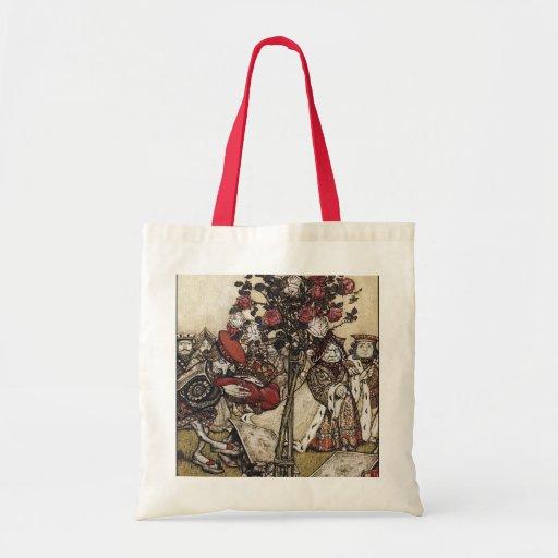 Alice and Wonderland - Arthur Rackham Budget Tote Bag
