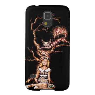 Alice and Wonderland Drawing with Cheshire Galaxy S5 Case