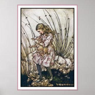 Alice and Wonderland - Pig & Pepper by Rackham Poster