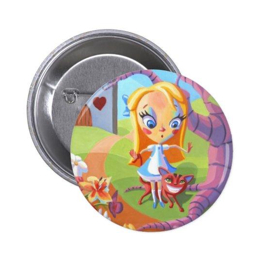 Alice and Wonderland Pinback Button