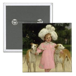 Alice Antoinette de la Mar, aged five Button