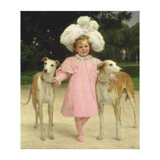 Alice Antoinette de la Mar, aged five Canvas Print