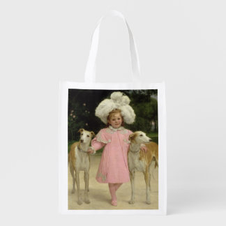 Alice Antoinette de la Mar, aged five Grocery Bags