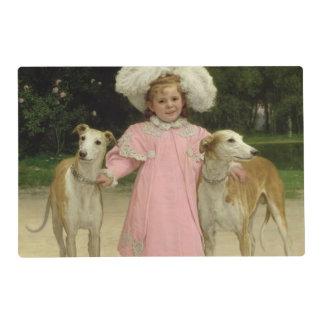 Alice Antoinette de la Mar, aged five Laminated Placemat