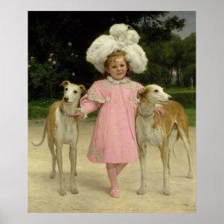 Alice Antoinette de la Mar, aged five Poster