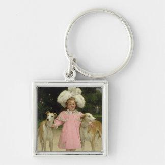 Alice Antoinette de la Mar, aged five Silver-Colored Square Keychain