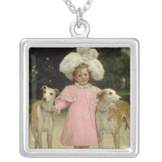 Alice Antoinette de la Mar, aged five Square Pendant Necklace