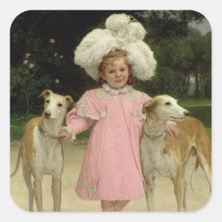 Alice Antoinette de la Mar, aged five Square Sticker