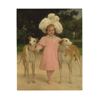 Alice Antoinette de la Mar, aged five Wood Print