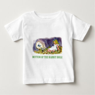 Alice at the bottom of the rabbit hole. t-shirt