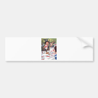 Alice at the Mad Hatter's Tea Party Car Bumper Sticker