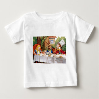 Alice at the Mad Hatter's Tea Party in Wonderland Baby T-Shirt