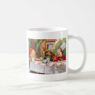 Alice at the Mad Hatter's Tea Party in Wonderland Mugs