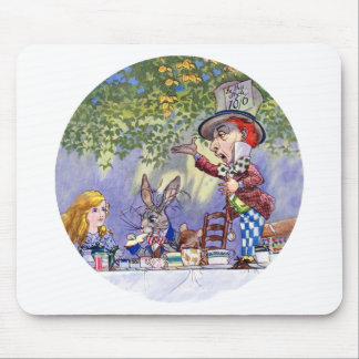 Alice at the Mad Hatter's Tea Party Mouse Pad